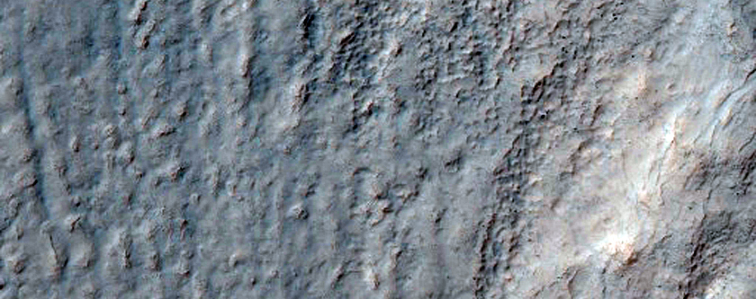 Monitor Slopes of Crater in Terra Sirenum