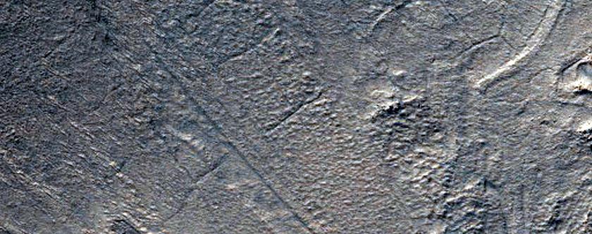 Banded Flow Terrain on Floor of Hellas Planitia