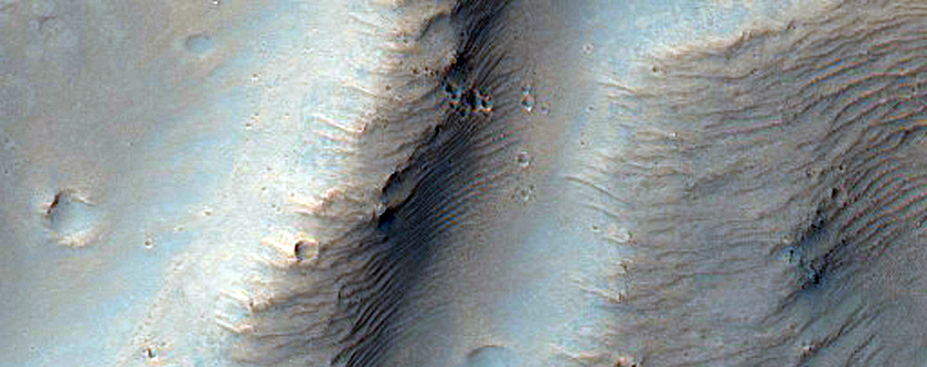 Valleys in Crater in Terra Sirenum