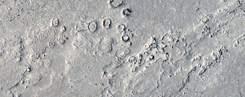 Lava and Streamlined Forms in Athabasca Valles