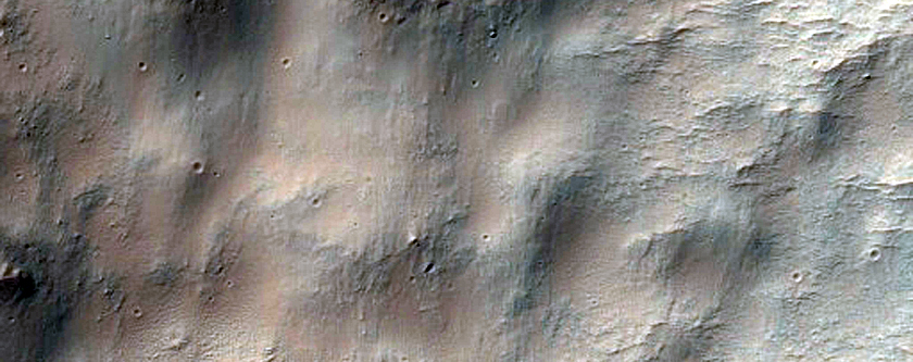 Gullies in Crater Near Ariadnes Colles