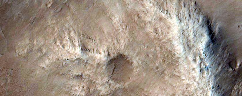 Crater Wall in Amazonis Planitia