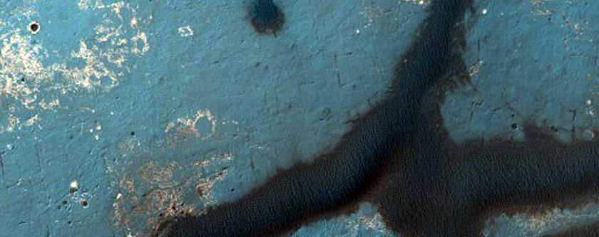 East Endeavour Crater Dune Field