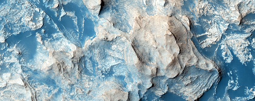 Deposit on Crater Floor in Elysium Region