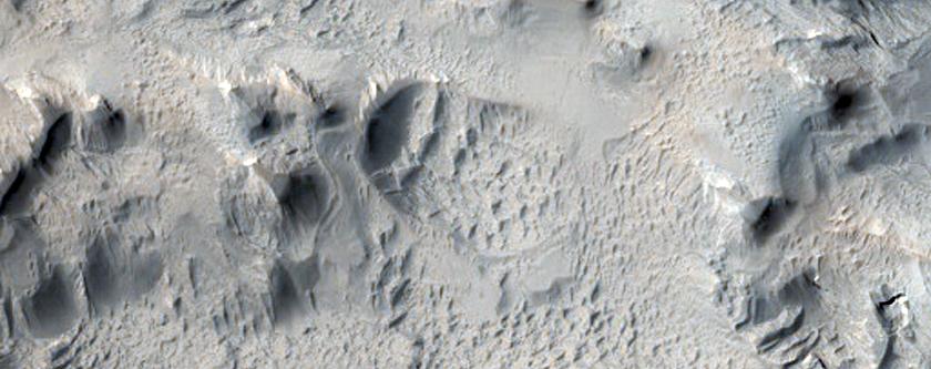 Dihevelepterow tirwedhek dhe les yn Amazonis Planitia a'n howldrevel