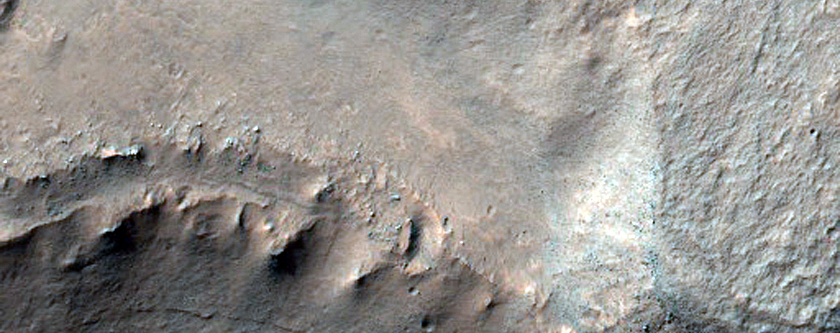 Layered Bedrock in Terby Crater