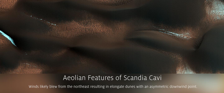 Aeolian Features of Scandia Cavi
