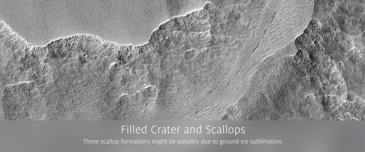 Filled Crater and Scallops