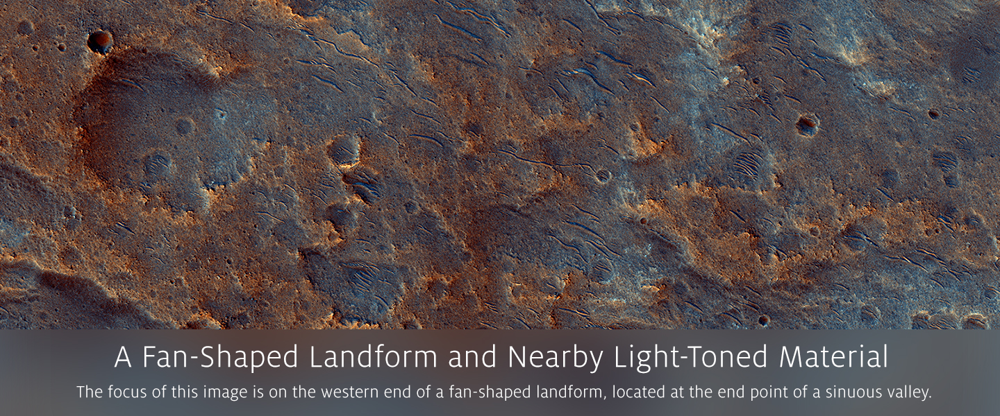 A Fan-Shaped Landform and Nearby Light-Toned Material