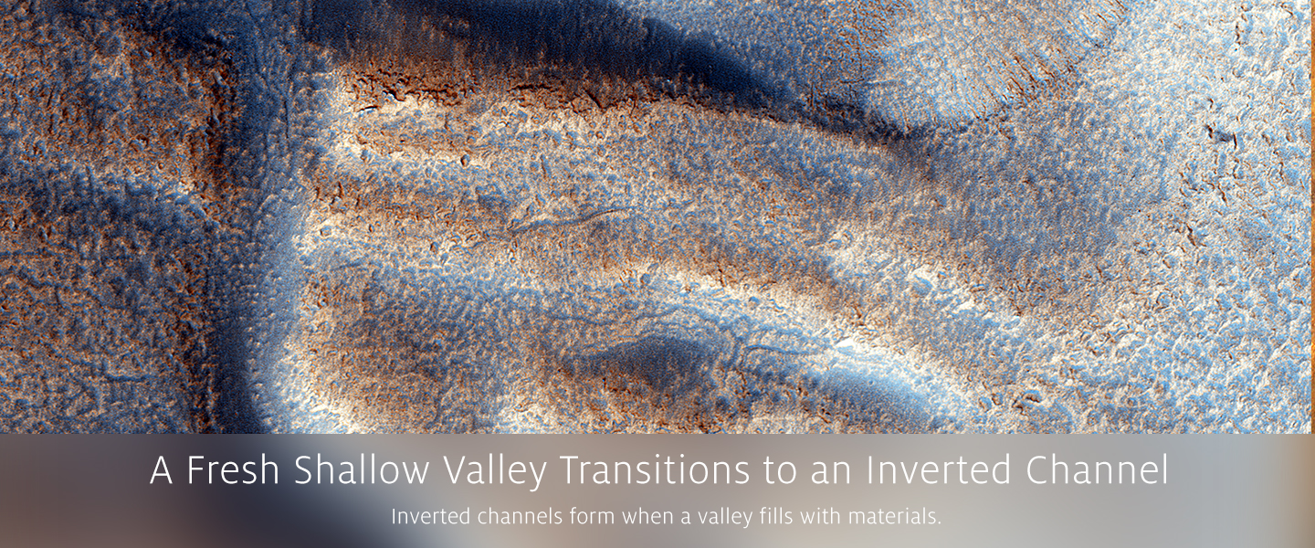 A Fresh Shallow Valley Transitions to an Inverted Channel