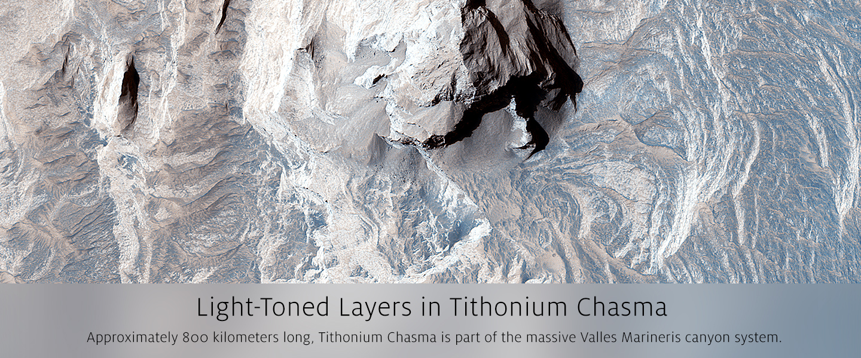 Light-Toned Layers in Tithonium Chasma