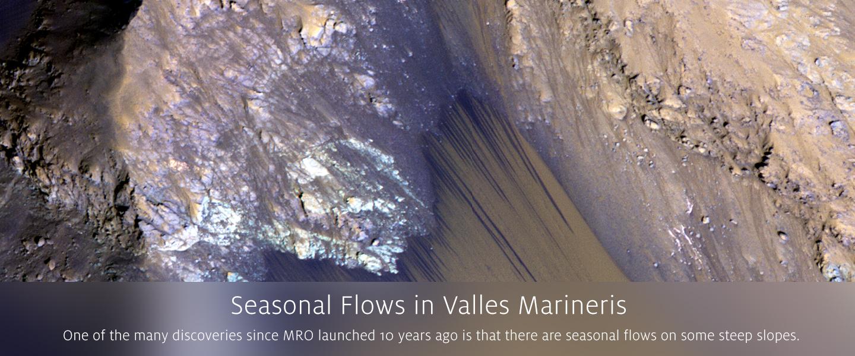 Seasonal Flows in Valles Marineris