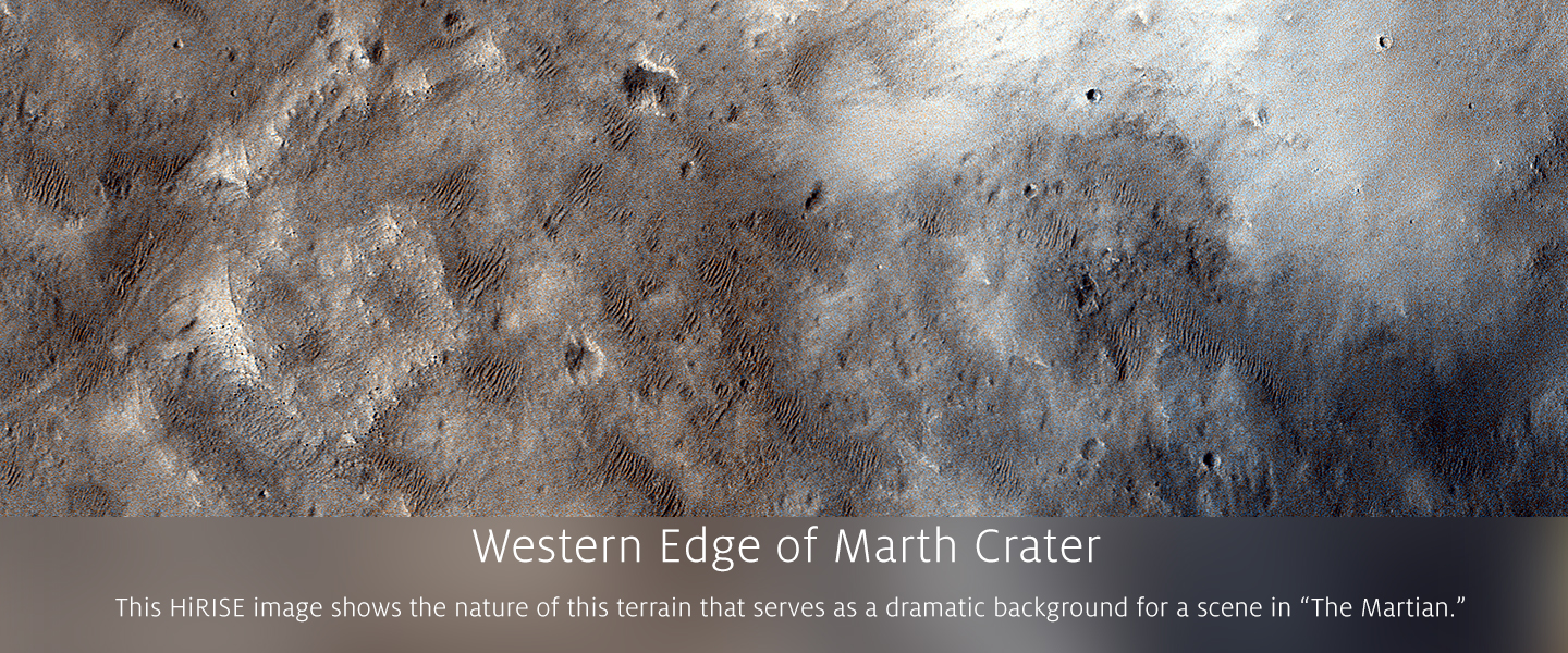 Western Edge of Marth Crater