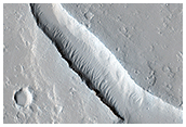 Lava Flow Near the Base of Olympus Mons