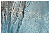 Gullies and Layers in a Crater Near Mariner Crater