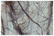 Margin of Pedestal Crater in Malea Planum