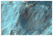 Fan-Shaped Deposits in Bigbee Crater