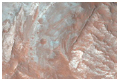 East Coprates Chasma Lower Wall Outcrops