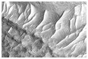 Infrared-Distinct Crater Near Reull Vallis
