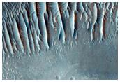 Valleys in Crater in Noachis Terra
