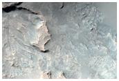 Exposure of Bedrock Northwest of Hellas Region