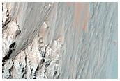 Coprates Region Falling Dunes and Landslide Scarps
