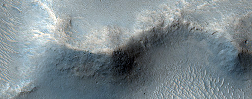 Streamlined Features and Small Channels adjacent to Ravi Vallis