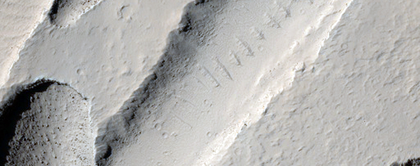 Intersecting Channels Near Olympica Fossae