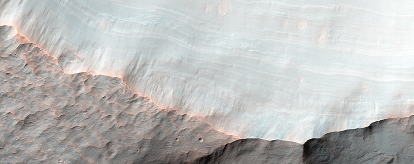 Stratigraphy of Alluvial Fans in Saheki Crater