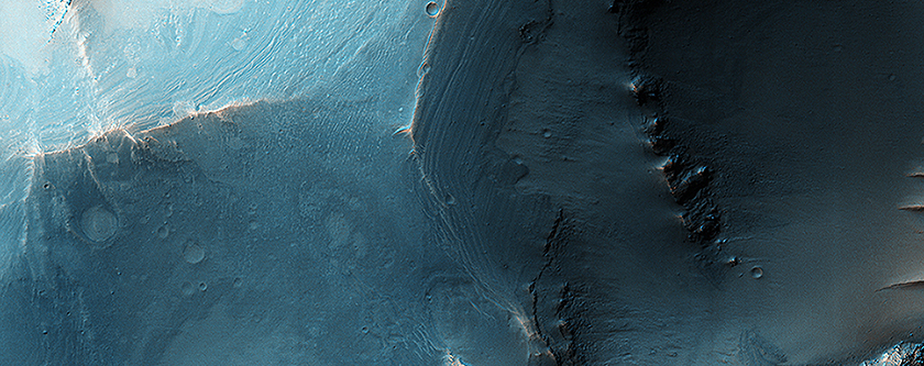 Faulted Layers in Collapse Pits