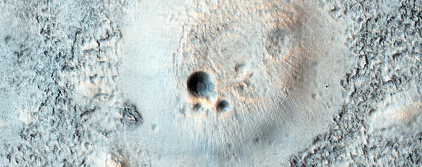 Cratered Cones in Acidalia Planitia