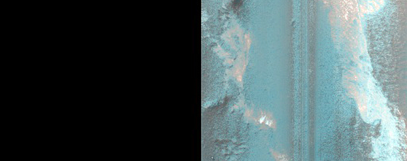 Possible Sulfate or Zeolite Outcrop in Terby Crater
