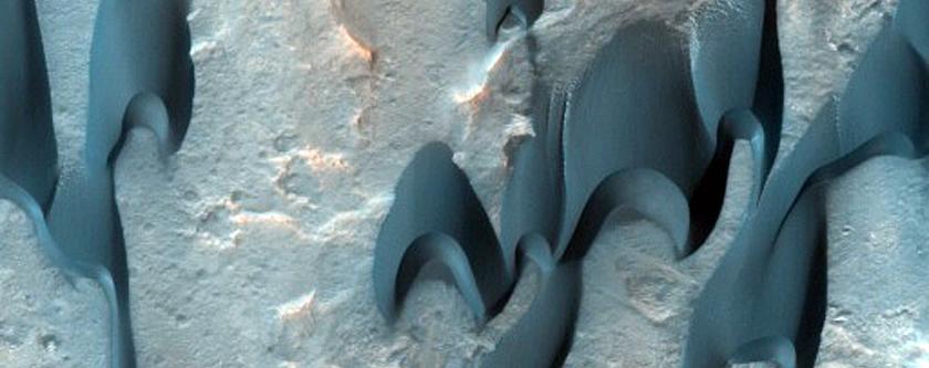 Seasonal Monitoring of Mclaughlin Crater Dunes