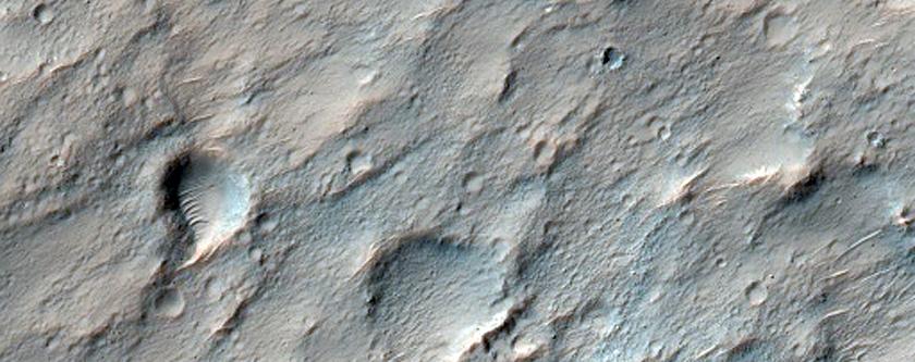 Possible Clay Deposit on Crater Floor