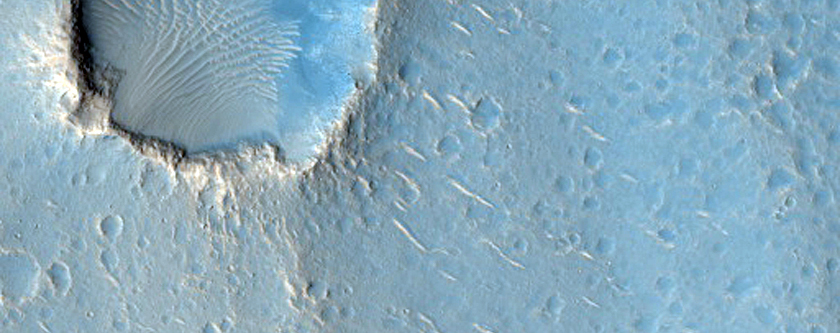 Ridges in Utopia Planitia