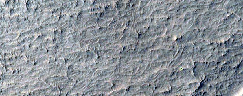 Deposit Inside Crater East of Schiaparelli Crater