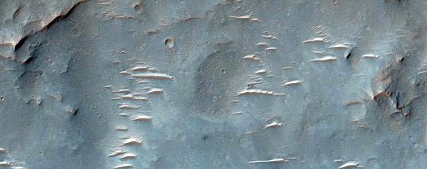 Floor of Verlaine Crater