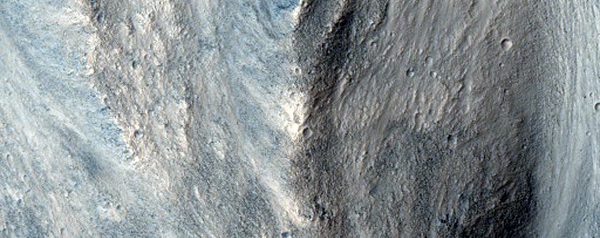 Small Channel in Wall of Orson Welles Crater