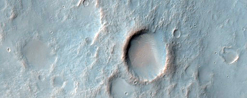 Terrain with Valleys West of Newcomb Crater