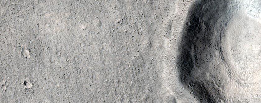 Depression-Filling Material in Far Northwest Arabia Terra