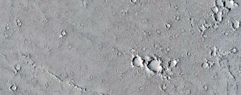 Thin Layers around Knob in Elysium Region