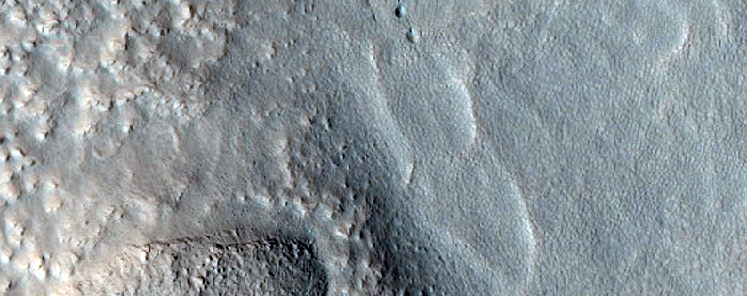 Exposed Layers in Crater Wall