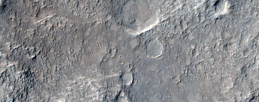 Channel in Bedrock North of Gale Crater
