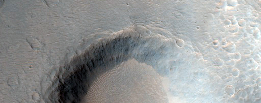 Crater Near Hydaspis Chaos