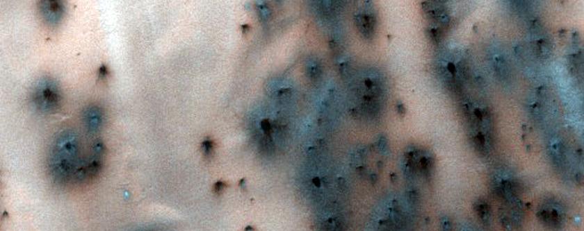 Sedimanter yelpazelere sahip kum tepeleri