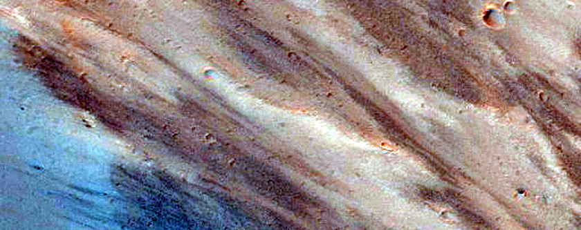 Excellent Bedrock Exposures in South Wall of Capri Chasma