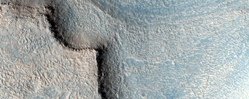 Massifs on Layered Bedrock in South Cydonia Colles