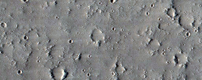 Craters on the Edge of Labeatis Fossae