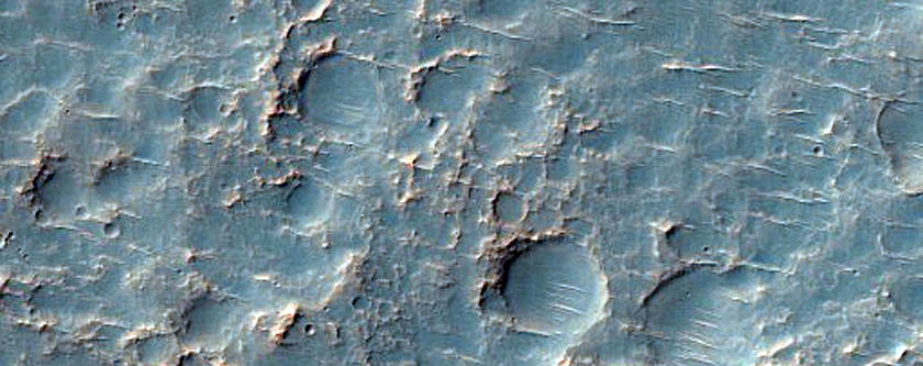 Channels in Crater Northeast of Hellas Planitia