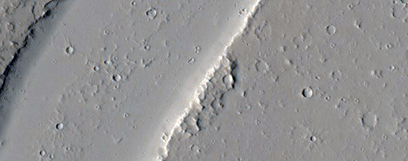 Channel in Tharsis Region